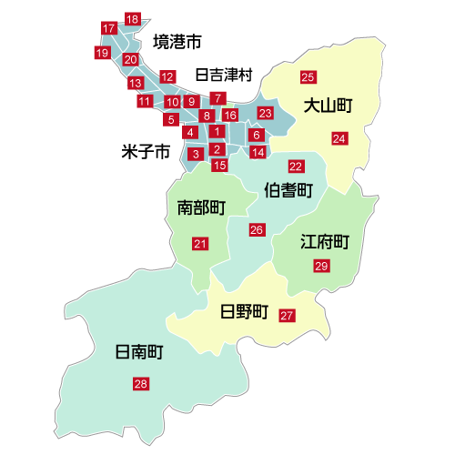 鳥取県西部の地図